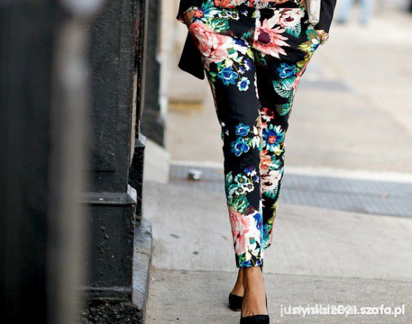 spodnie flora