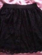 czarna koronkowa spódnica w gumkę rozm 40 42