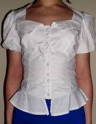 ASOS 36 koszula z baskinką i bufkami