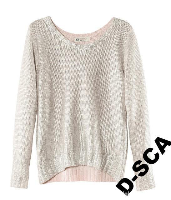 Swetry metalicznt srebrny hm oversize