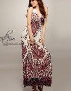 BOHO Sukienki długie letnie zwiewne
