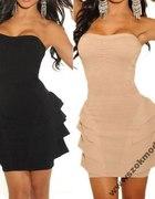 Sukienka z baskinką rozmiar L