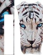 tygrys biały top bluzka atmosphere