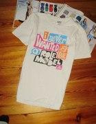 Biały t shirt ADIDAS z nadrukiem XL L