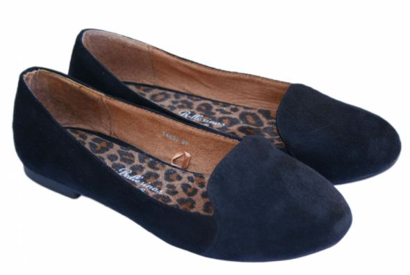 Atmosphere balerinki lordsy czarne loafers