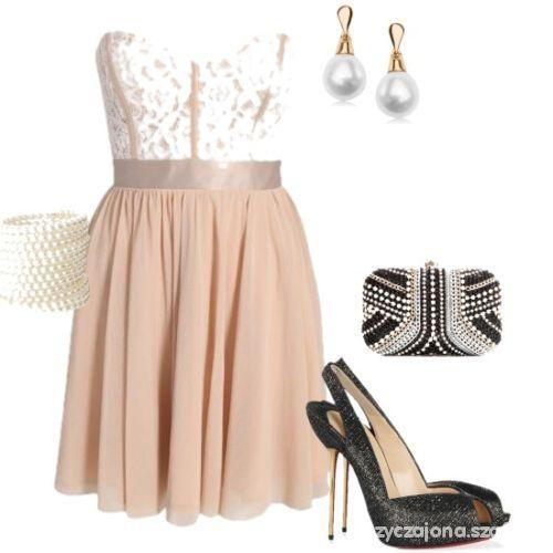 Eleganckie piękna sukienka