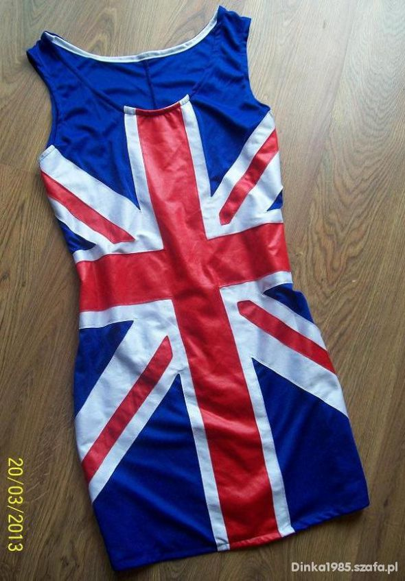 Sukienka tunika bokserka flaga