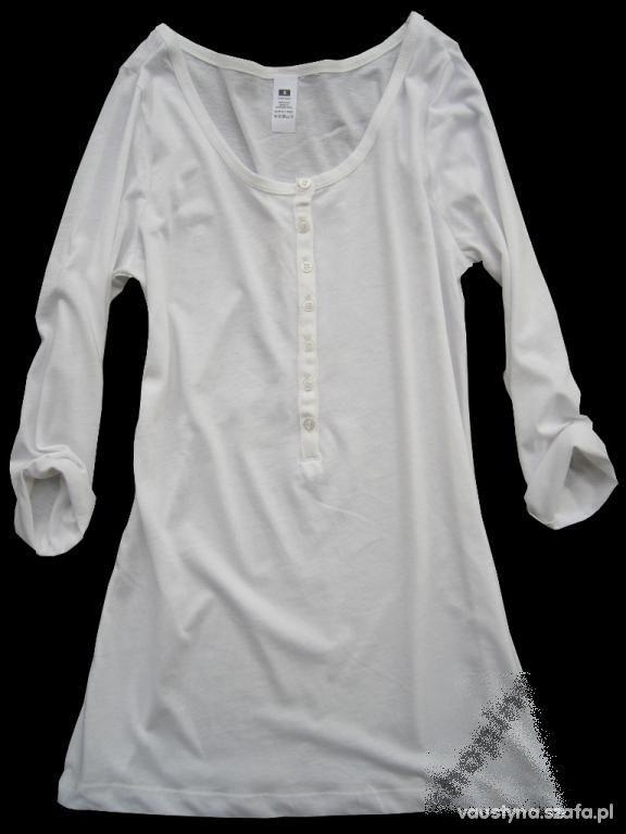 Ubrania szukam białej tuniki z guzikami