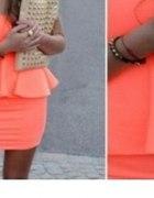 Sukienka z baskinka doda 36 nowa