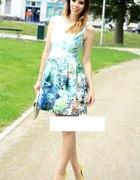 Zara Fish Print Aquamarine
