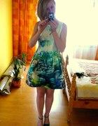 Sukienka Zara Fish Print Aquamarine