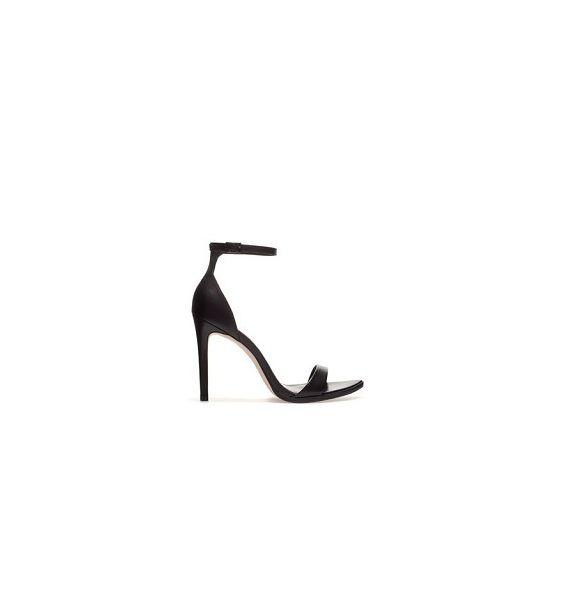 czarne sandały szpilki 39