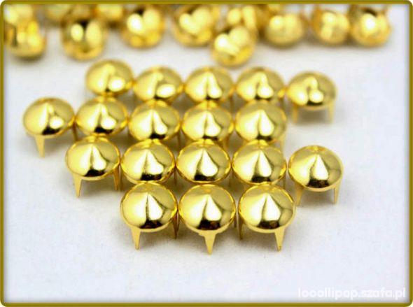 Pozostałe złote cwieki stozki 7mm