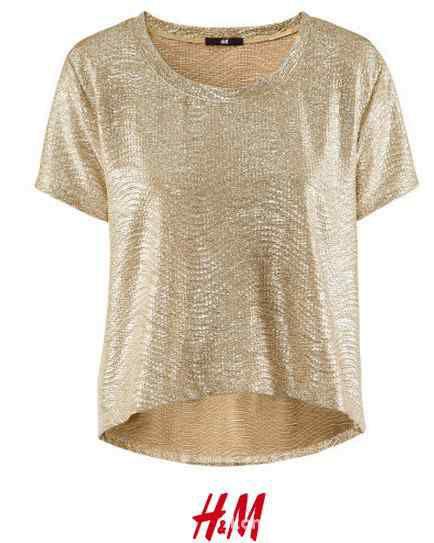 Złoty oversize H&M