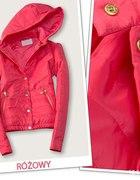 kurtka pikowana rózowa
