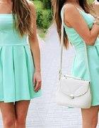 Prześliczna miętowa sukienka