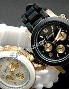 Złoty Zegarek GENEVA jelly watch 3 kolory czarny s