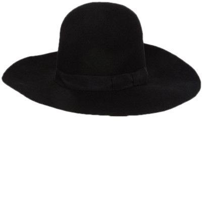 kapelusz czarny duży filcowy