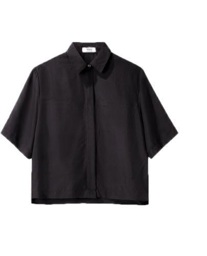 bluzka kołnierzyk krótka 42