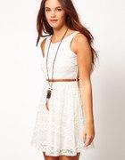 River Island biała koronkowa sukienka...