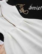 XS S 4 KOLORY sukienka rozklszowana zipem