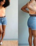 Jeansowe szorty wysoki stan