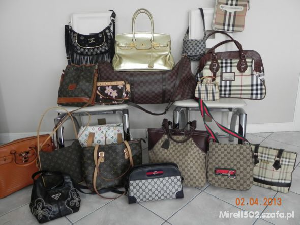 Torebki na co dzień Louis Vuitton Gucci Prada Chanel Burberry Hermes