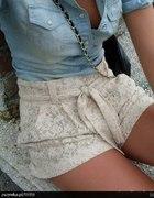 Koronkowe shorty