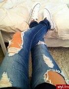 Conversy i świetne jeansy