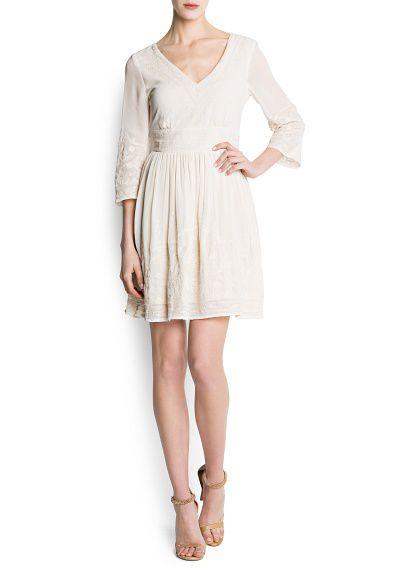 Sukienka Boho z szyfonu MANGO