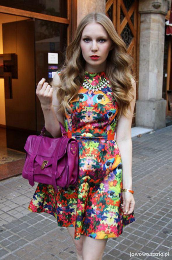 Mój styl SUKIENKA H&M multicolor
