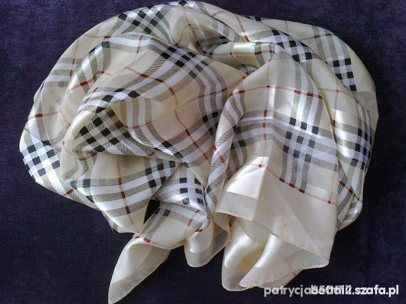Chusty i apaszki chustę w motyw kratki Burberry
