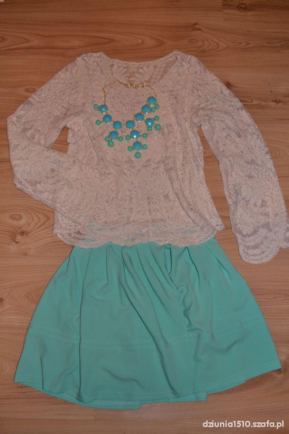 Mój styl mietowa spodnica