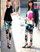 spodnie legginsy w kwiaty