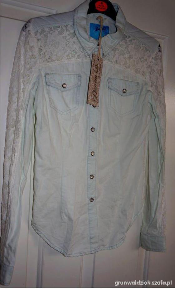 PILNIE POSZUKUJĘ Jeans Koszula z koronką Atmospher...