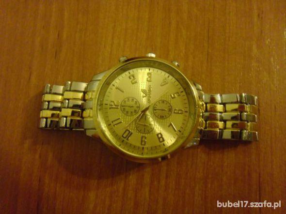 złoto srebrny zegarek