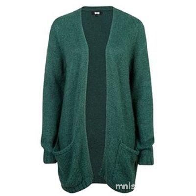 Odzież wierzchnia szmaragdowy sweter kardigan long