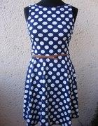 Nowa Rozkloszowana sukienka w grochy M