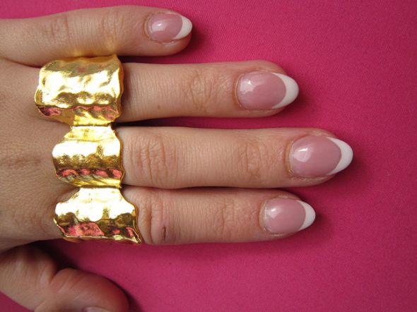 złote blaszki pierscionki