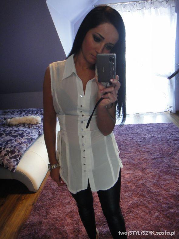 Eleganckie bial bluzeczka