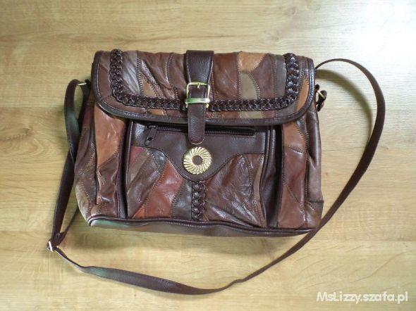 Skórkowa torebka vintage