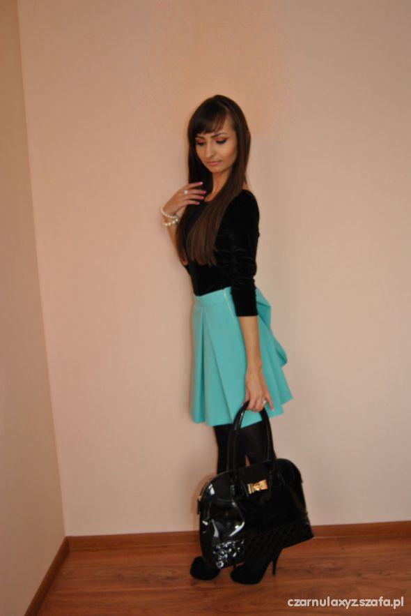 Mój styl black and mint