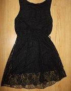 czarna koronkowa sukienka rozm 3638