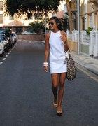 szukam białej prostej sukienki