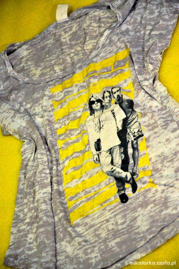 T-shirt Nirvana żółto szara