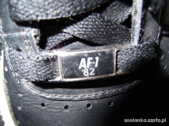 Nike Air force 1 low 36 czarne nowe tanio hip hop w Sportowe