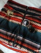 H&M Spódniczka Spódnica Mini Aztec Wzorki Zip