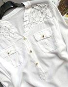 NOWA biała bluzka z koronką