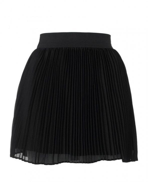 Spódnice czarna i biała plisowana spódniczka
