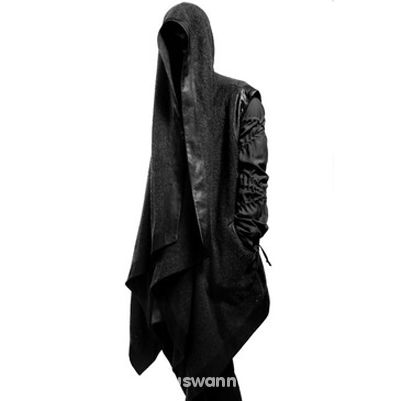 Ubrania skórzana asymetryczna kurtka